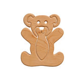 Wooden Teddy with Fish Stock Photos