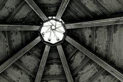 Wooden teepee roof stock photo
