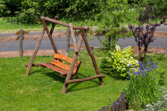 Wooden teeter Royalty Free Stock Images