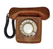 Wooden telephone Stock Images