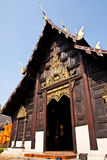 Wooden Temple. A Buddhist Wooden Temple in Chiang Mai Stock Photo