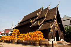 Wooden Temple. At a Buddhist temple in North of Thailand Stock Image