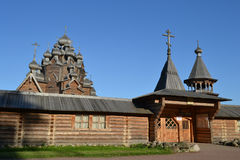 Wooden temple. Royalty Free Stock Photography