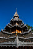Wooden temple building stock photography