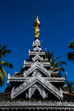 Wooden temple building Stock Photo