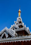 Wooden temple building stock image