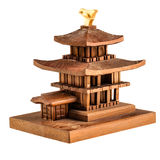 Wooden temple miniature Royalty Free Stock Photo