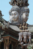 Wooden temple in Pattaya, Thailand Stock Photos
