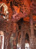 Wooden temple in Pattaya. The wooden temple of the truth in Pattaya, Thailand Stock Photo