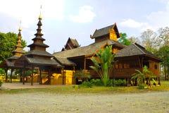 Wooden temple,Wat Jom Swan,Phrae Stock Image