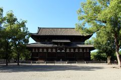 The wooden temples around Toji Temple in Kyoto, Japan. Pic was t stock photos