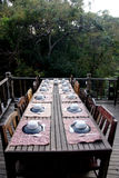 Wooden terrace Stock Images