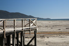 Wooden terrace on a beach Stock Photography