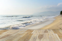 Wooden terrace on the Beach Royalty Free Stock Image