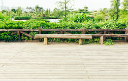 wooden deck wood outdoor patio backyard garden landscaping Stock Photography