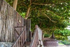 Wooden terrace Stock Photos