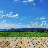 The wooden terrace farms Royalty Free Stock Images