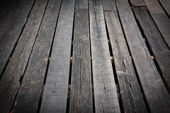 Wooden terrace floor Stock Photo