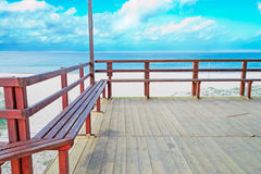 Terrace by the sea Stock Image