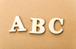 Wooden text for ABC Stock Image