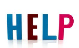 Help Cube Text Stock Illustration - Image: 92335597