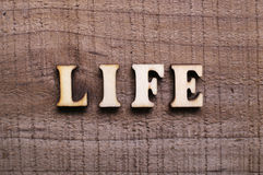 Wooden Text Life Stock Images