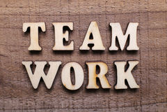 Wooden Text Teamwork Stock Photos