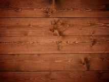 Wooden texture. Dark brown wooden Panels used as background Stock Photography