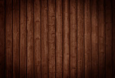 Wooden texture. Dark brown wooden Panels used as background Stock Photo