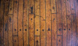 Wooden texture background with brown yellow color as floor of the ship deck royalty free stock image