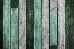 Wooden Texture Background. Grunge and Aged Plank. Weathered Vintage Wood. Green Tone royalty free stock photography