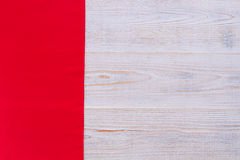 Wooden texture background and tablecloth Stock Image