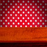 Wooden texture background and tablecloth Stock Images
