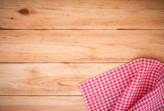 Wooden texture background and tablecloth Royalty Free Stock Photography
