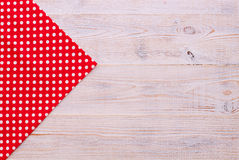 Wooden texture background and tablecloth Stock Photography