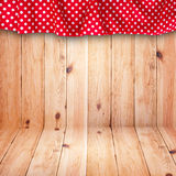 Wooden texture background and tablecloth Stock Photos