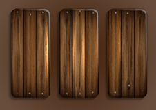 Free Wooden Texture Banner. Stock Photos - 34979243