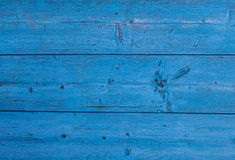 Wooden texture of blue color. Background of the painted wood. Stock Photos