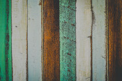 Wooden texture. Blue, green, dark brown, white, color for the background, Closeup Royalty Free Stock Photography