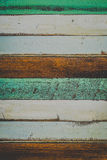 Wooden texture. Blue, green, dark brown, white, color for the background, Closeup Royalty Free Stock Photo