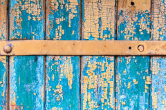 Wooden Texture from Board with Structure and Chink,Old Paint,Cracks. Green Wooden Texture from Board with Structure and Chink,Old Paint,Cracks Royalty Free Stock Images