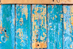 Wooden Texture from Board with Structure and Chink,Old Paint,Cracks. Green Wooden Texture from Board with Structure and Chink,Old Paint,Cracks Royalty Free Stock Photo