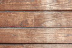 Wooden texture from boards. Old wooden texture from brown horizontal boards Stock Photos