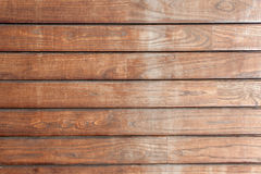 Wooden texture from boards. Old wooden texture from brown horizontal boards Stock Images