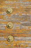 Wooden texture with bolts Royalty Free Stock Image