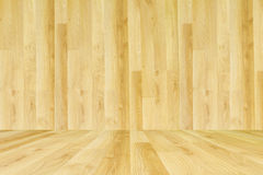 Wooden texture cream tone with wooden floor Royalty Free Stock Photography