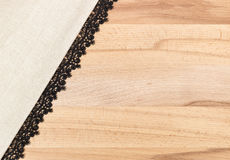 Wooden texture with Fabric Royalty Free Stock Image