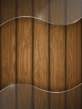 Wooden texture with glass. Stock Photo