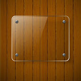 Wooden texture with glass framework. Royalty Free Stock Photography