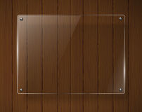 Wooden texture with glass framework. Vector illustration Royalty Free Stock Images